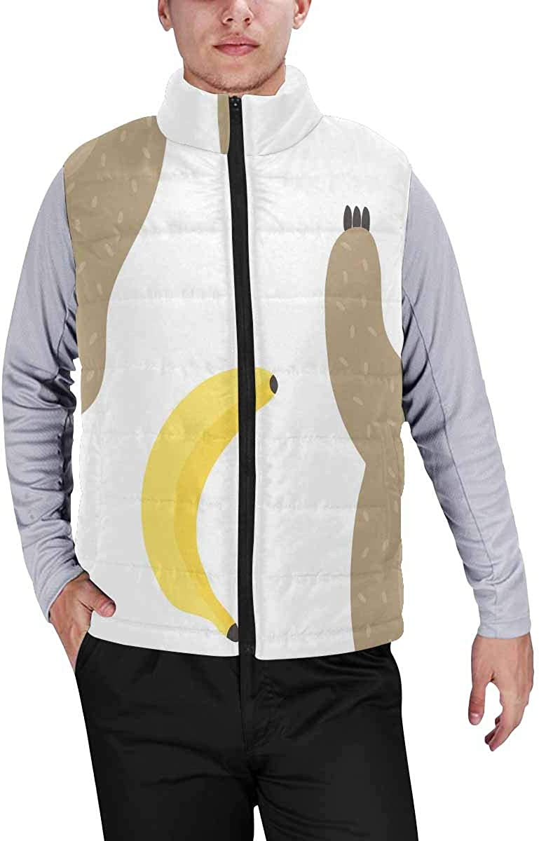 InterestPrint Men's Soft Stand Collar Jacket for Fishing Hiking Cycling Dancing Penguins