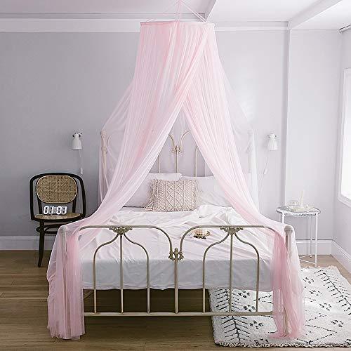 6 Farben Moskitonetz Universalgröße Romantische runde Kuppel Vorhang Bett Baldachin Spitze Zelt Bettwäsche Mückenschutz,pink