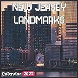 New Jersey Landmarks Calendar 2022: Official New Jersey Calendar 2022, 18 Month Photo of New Jersey Travel calendar 2022, Mini Calendar