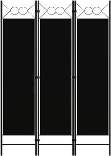 vidaXL Cloison de Séparation 3 Panneaux Séparateur de Pièce Diviseur Ecran d'Intimité Paravent Chambre à Coucher Maison In...