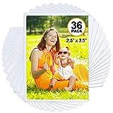 Tebik 36 Pack Magnetic Picture Frame, Holds 2.5X3.5 Inches Photos Pictures, White Magnetic Photo Frames with Clear Pocket for Refrigerator,Fridge, Locker, Office Cabinet