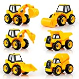 QUN FENG Engineering Car Truck Montado DIY a Dumper, Excavadora, hormigonera, Bulldozer, Taladro, Asfalto pavimenta para niños Juguete Educativo