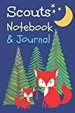 Scouts Notebook & Journal: Journal Sketchbook with half wide ruled lined paper and half blank with wide ruled pages for Scouts Cubs Girl Scouts - Perky Pages