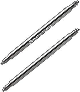 Masar 6 à 46mm Ø 1.5mm 1.6mm Premium INOX 316L ou Swiss - Barrettes à Ressort pour Bracelets de Montre - 2 Pcs