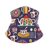 Doodle Tetera para niños con protección UV para el cuello, polaina, resistente al viento, multifunción, pasamontañas para niños y niñas