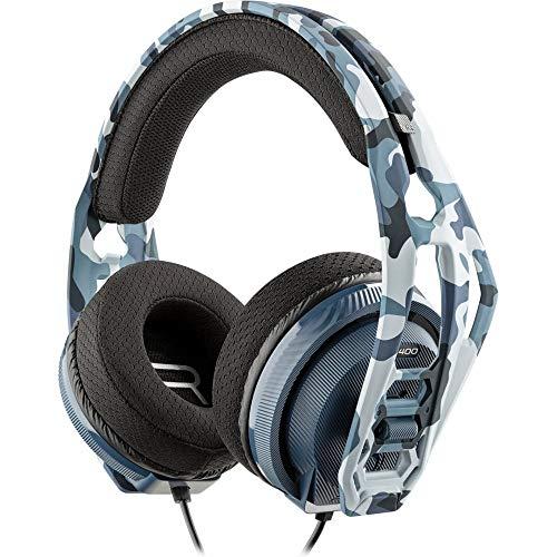 Nacon RIG400HSCAMOBLUE - Auricular Gaming, Licenciado Sony para PlayStation PS4, Camuflaje azul