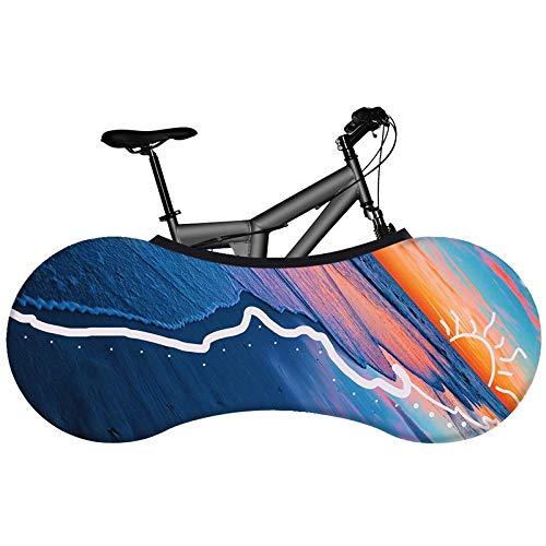 HYSJLS Bicicleta Protección 1pcs de Bicicletas de Interior de la Cubierta de Polvo Respetuoso del Medio Ambiente sin desvanecimiento Carretera Cubierta de la Bici Tela elástico Pequeña Pro