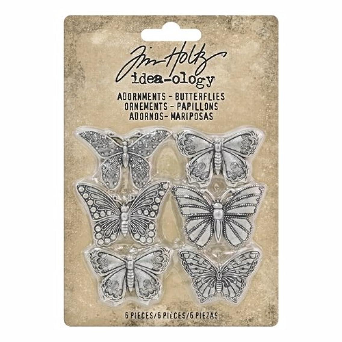 Tim Holtz Idea-ology, Adornments Butterflies upbnsml50