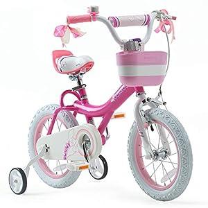 RoyalBaby Girls Kids Bike Jenny Bunny 12 14 16 18 20 Inch Bicycle 3-12 Years Old Basket Training Wheels Kickstand White… -