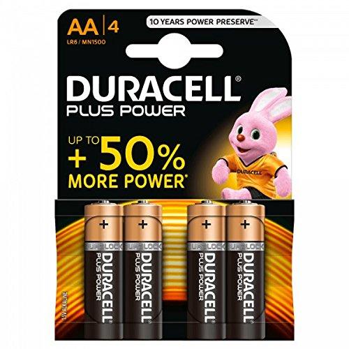 BATTERIA PILA STILO 1,5 volt alkaline AA stilo duracell confezione da 4 pile