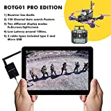 The Bigly Brothers ROTG01 PRO Edition FPV Receiver UVC OTG 5.8G 150CH Full Channel FPV Receiver Android with Audio for Mobile Android Smartphone - Black