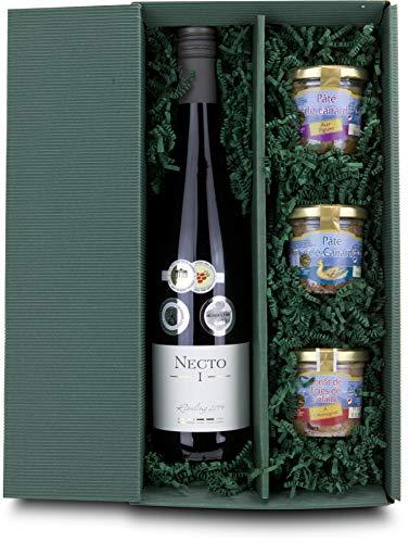 Geschenkset Pasteten Variationen & Weißwein