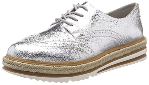 Tamaris Damen 23709 Sneaker, Silber (Silver Crack), 40 EU