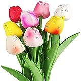 Yyhmkb - Tulipani artificiali, fiori finti in lattice, per feste, casa, matrimonio, decorazione fai da te, multicolore, 8 pezzi, 8 pezzi