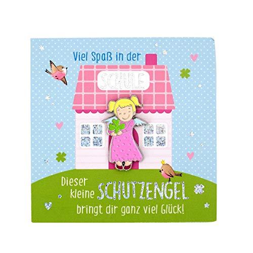 Sheepworld, Gruss und Co - 45969 - Anstecker, Schutzengel, Viel Spaß in der Schule, Metall, 2,9cm
