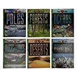 Planet Earth - Deserts, Forest, Mountain, Ocean, Poles, River - Set of 6 Books - Series by The Energy and Resources Institute - Meaningful Gift for Kids