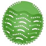 GUJIN [10 Stück] Urinalsieb mit Duft, Universal Urinaleinlage Einsatz, Spritzschutz Pissoirsieb Lufterfrischer für jedes Pissoir(Grün)