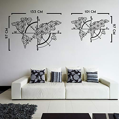 Northshire Metal Wall Decor World Map Of Life Metal Wall Art Xl Black Wall Decor Bathroom Decor Bedroom Decor And Kitchen Wall Decor Wall Decorations For Living Room Buy Online In Japan
