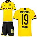 PUMA Borussia Dortmund BVB Heimset 2019 2020 Home Kit Trikot Shorts Kinder Mahmoud Dahoud 19 Gr 176