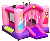 Happy Hop-9201P Princess Slide and Hoop Bouncer, Multicolor (9201P)