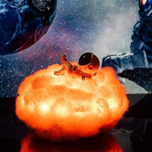 BESPORTBLE Astronaut Wolken Lampe Regenbogen Wolke Nacht Licht mit Fernbedienung & Touch Control USB-Wolken Nacht Licht für Kind Mädchen Jungen Zimmer Schlafzimmer Kaffee Dekoration