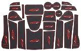 Fting Tapete De Copa Interior Personalizado for 5008 GT,Puerta Seguridad Pad Cup Alfombrillas Decoracin Piezas Antipolvo Decoración Automotriz