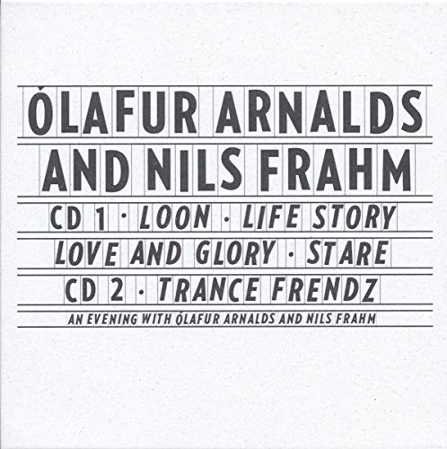 Olafur Arnalde 'An evening with Olafur Arnalds And Nils Frahm'