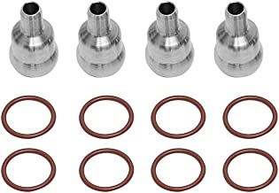 For 2003-2010 Ford 6.0L Powerstroke High Pressure Oil Rail Ball Tube Repair kit with O-Rings (Orange)
