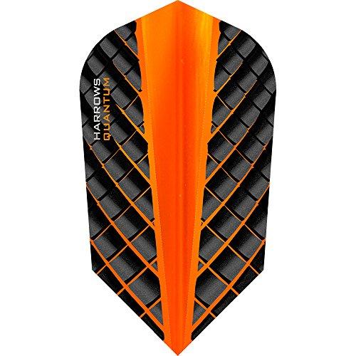 HARROWS Quantum Dart Flights, 100Micron–Slim–3D Effekt–5sets (15), Orange