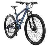 BIKESTAR Bicicleta de montaña de Aluminio Suspensión Doble Completa 29 Pulgadas | Cuadro 17.5' Cambio Shimano de 21 velocidades, Freno de Disco, Fully MTB | Azul