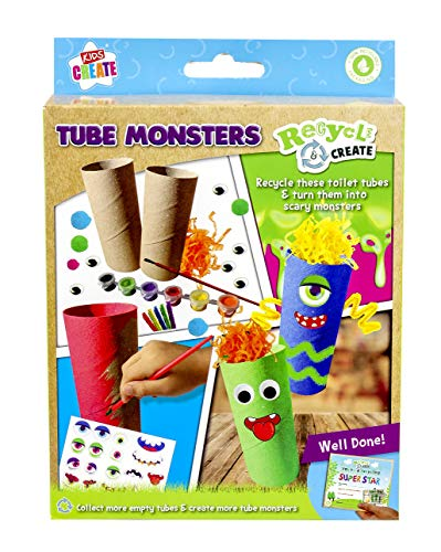 Kids Create - Act Recycled Pyo Tubes - Kids Craft Tube Pets - Arts and Crafts Set for Kids I Children's Craft and Design Kit