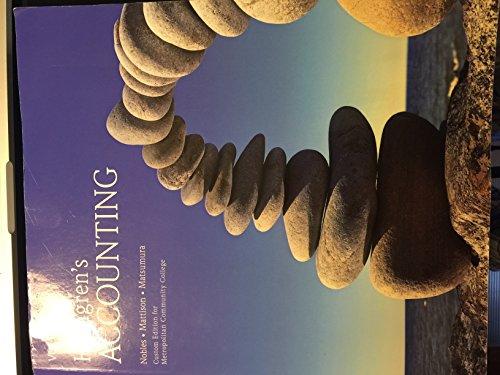Horngren's Accounting Volume 1