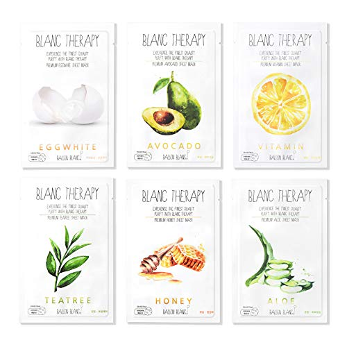Ballon Blanc Therapy Face Moisturizer Facial Sheet Mask Infused With...