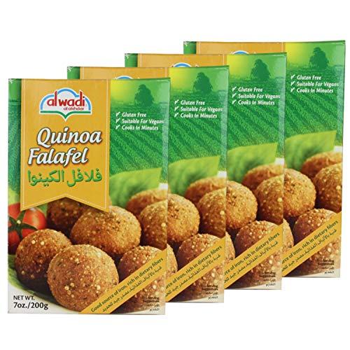 Al Wadi - Arabische Falafelmischung mit Quinoa - Vegan vegetarische Falafel-Fertigmischung orientalisch im 4er Set á 200 g