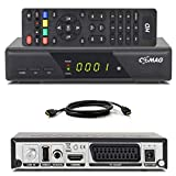 Comag HD25 Volks-Receiver + HDMI Kabel HDTV HD Satelliten Receiver Sat schwarz + USB 2.0, DVB-S2, HDMI, SCART + HDMI 1080p digital digitaler Satellitenreceiver