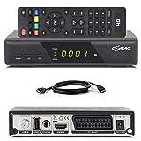 Comag HD25 Volks-Receiver + HDMI Kabel HDTV HD Satelliten Receiver Sat schwarz + USB 2.0, DVB-S2, HDMI, SCART + HDMI EasyFind Easy Find 1080p digital digitaler Satellitenreceiver