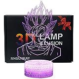 3D Lámpara de Escritorio NHSUNRAY 7 colores LED Touch lámpara de mesa con control remoto para niños cumpleaños regalo de San Valentín de Navidad (Dragon Ball)