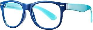 عینک آفتابی بچه گانه AZORB عینک لاستیکی کلاسیک TPEE برای دختران پسران 3 تا 12 سال ضد خستگی چشم (آبی / آبی تیره)