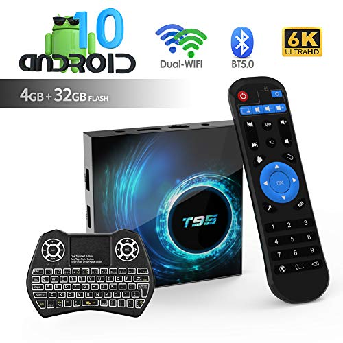puissant Android TV Box, T95 Android 10.0 TV Box 4 Go de RAM / 32 Go de ROM H616, Quad Core 64 bits, Prise en charge…