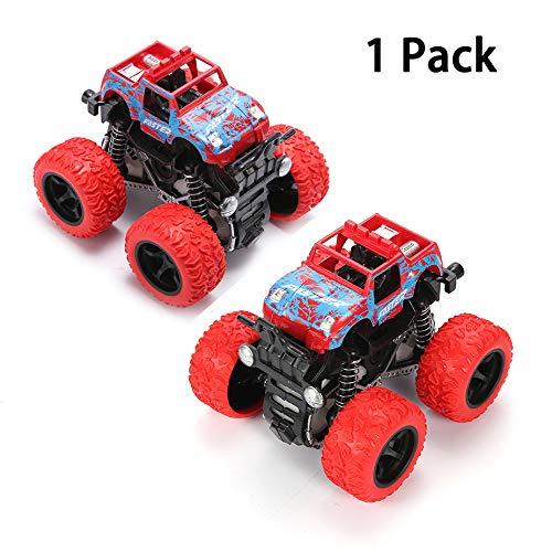 Lovstory Camiones Monstruo de Fricción Coche de Inercia Juguetes para niñas niños – Push and Go…