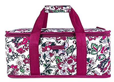 Vera Bradley Insulated Casserole Carrier with Zip Closure and Handles, Fits Up To Two 13x9 Baking Dishes