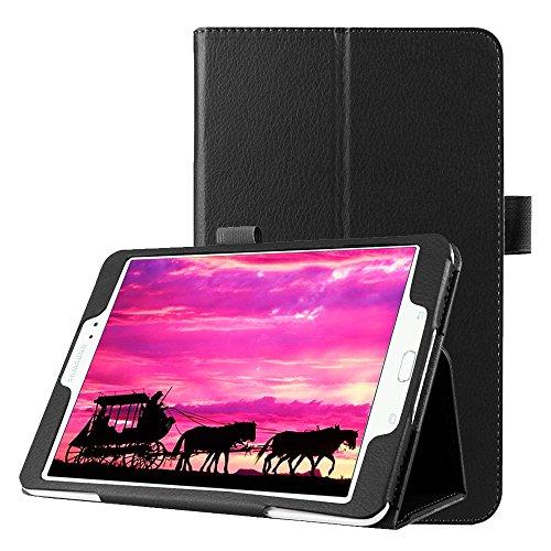 subtel® Smart Case Compatibile con Samsung Galaxy Tab S2 8.0 (SM-T710 / SM-T713 / SM-T715 / SM-T719) Similpelle Custodia Borsa Guscio Flip Cover Case Nero