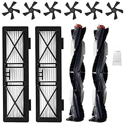 Uniquk Parti di Ricambio per Neato Botvac D Series D3 D4 D5 D6 D7 D75 D80 D85 Robot Aspirapolvere Kit Accessori Spazzole