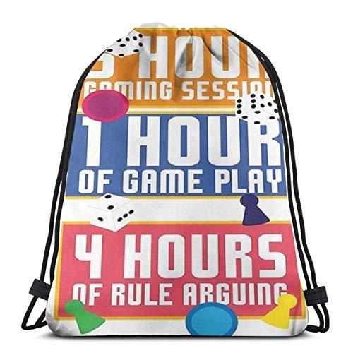 AOOEDM 5 Stunden Gaming Session Design Lustiges Brettspiel Tabletop Sport Sackpack Kordelzug Rucksack Gym Bag Sack
