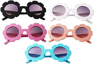 sharprepublic - sharprepublic 5 Piezas de Moda para Niños Pequeños, Gafas de Sol de Flores Vintage UV400 para Niñas Y Niños