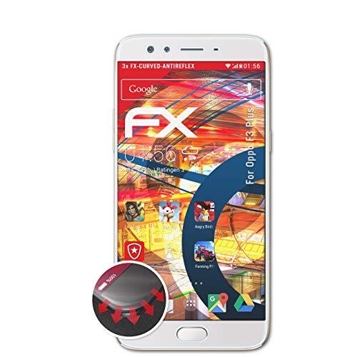 atFolix Schutzfolie kompatibel mit Oppo F3 Plus Folie, entspiegelnde & Flexible FX Bildschirmschutzfolie (3X)