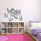 Tianpengyuanshuai Tatuajes de Pared de pingüino antártico Dormitorio para niños Divertidos Dibujos Animados decoración del hogar Vinilo Adhesivos de Pared jardín de Infantes Lindo Mural 75x102cm