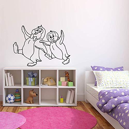Tianpengyuanshuai Muurstickers Pinguïn Antarctische slaapkamer voor kinderen grappige cartoons decoratie voor thuis muurstickers van vinyl voor school kleuterschool muurstickers schattig