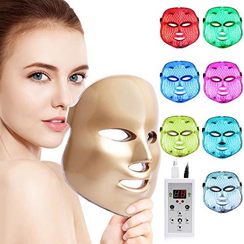 Cinlinso LED Face Màsk, 7 Color LED Face Màsk Light Theràpy LED Facial Màsk Skìn...