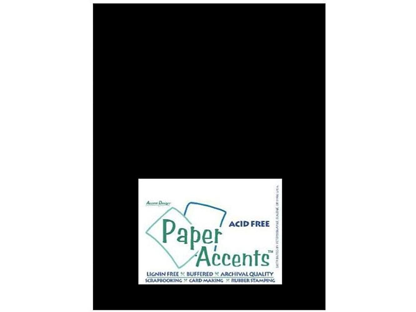 Accent Design Paper Accents ADPaperGlossy8.5x11Black Cdstk Glossy 8.5x11 12pt Black